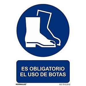 Placa  es obligatorio el uso de la botas  - PVC - 297 x 210 mm