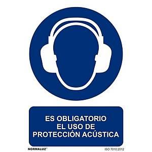 Placa  es obligatorio el uso de protección acústica  - PVC - 297 x 210 mm