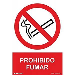 Placa  prohibido fumar  - PVC - 297 x 210 mm
