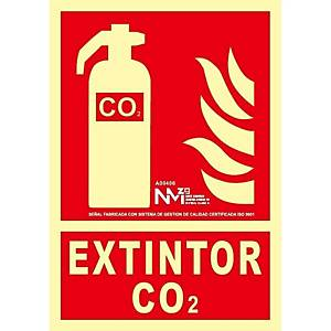 Placa  extintor  - PVC fotoluminiscente - 300 x 210 mm