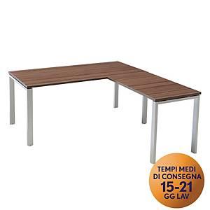 Allungo per scrivania in metallo TDM linea Open  L 100 x P 60 cm noce