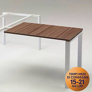 Allungo per scrivania in metallo TDM linea Open  L 100 x P 60 cm rovere