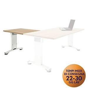 Allungo per scrivania Variant Meco Office linea Wood L80 x P60cm rovere / bianco