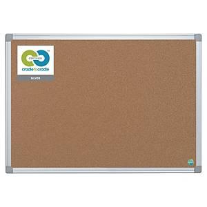 Korková tabula Bi-silque earth-it, aluminium 90 x 60