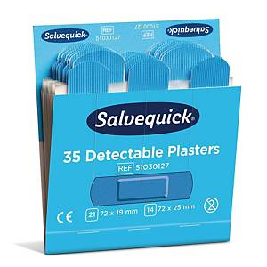Salvequick 51030127 muovilaastari sininen, 1 kpl=6x35 laastaria