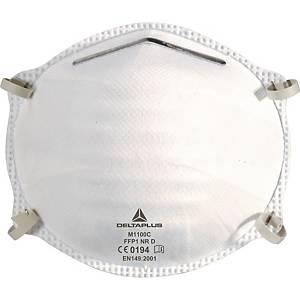 Masque à poussière jetable Deltaplus M1100C, FFP1, paquet de 20