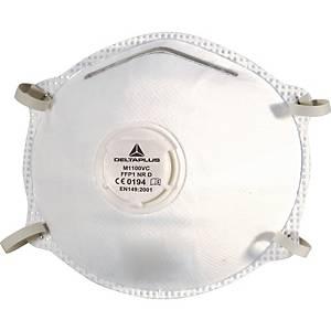 Masque à poussière jetable Deltaplus M1100V, FFP1, avec valve, paquet de 10