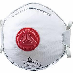 Atemschutzmaske mit Ausatemventil Deltaplus M1300V2C, Typ FFP3, Pk. à 10 Stk.