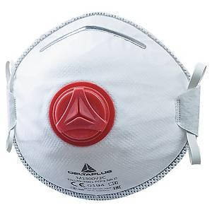 Respiratore a conchiglia Deltaplus M1300V2 FFP3 con valvola - conf. 10