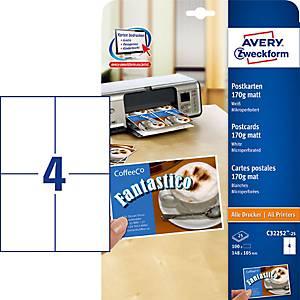 /PA100 ZWF C32252 CARTE POSTE AXA6 BLANC