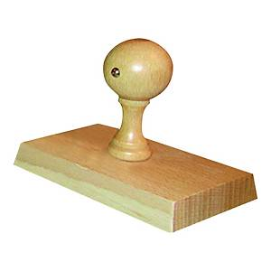 Stempel drewniany - 85 x 55 mm