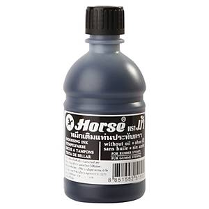 HORSE Stamp Pad Refill Ink 200cc Black