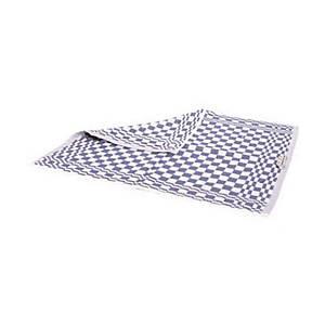 Handdoek in blauw-witte badstof, geruit, pak van 6 handdoeken
