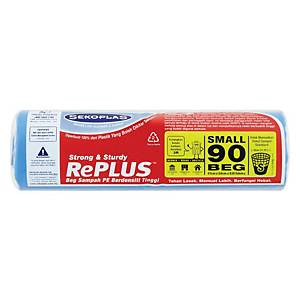 Sekoplas Garbage Bags Small Blue - 90 Per Roll