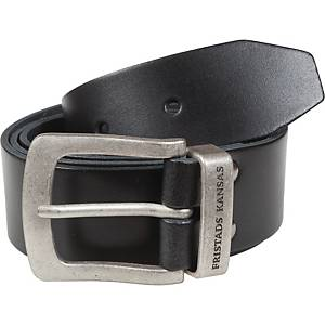 FRISTADS KANSAS LEATHER BELT BLK 122CM
