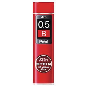 Náplně Pentel do mikrotužek, 0,5 mm, B, balení 40 kusů