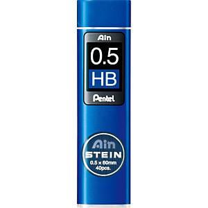 Mine Pentel - HB - 0,5 mm - étui de 40
