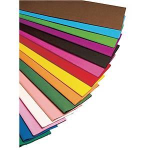Papier crépon 50 cm x 2,5 m assorties - le paquet de 10