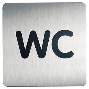 Pictogramme carré Durable - WC - métal