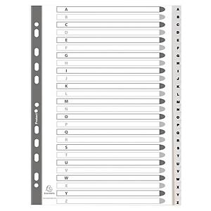 Dividers in PP A4 26 tabs A-Z white