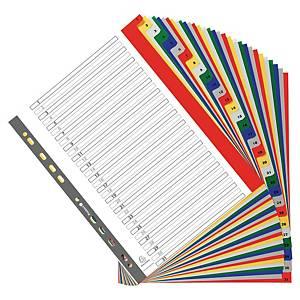 Exacompta numerieke tabbladen en indexblad, A4+, PP, 11-gaats, per 31 tabs