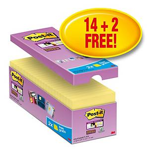 Post-It Super Sticky Value Pack Notes 76X76mm Yellow Pk16