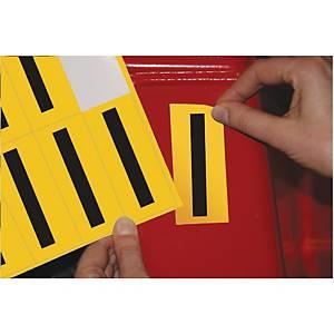 Lettre adhésive I - 75 mm - noir/jaune - carte de 10