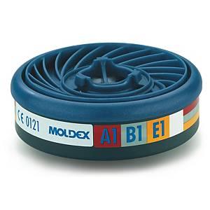 Pack de 10 filtros Moldex 9100 - A1 - vapores orgánicos