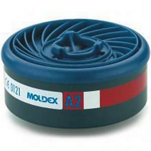 Filtre à gaz Moldex Easylock 9200 pour les séries 7000 et 9000, A2, les 8