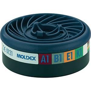 Gasfilter Moldex EasyLock 940001, Typ A1B1E1K1, 10 Stück
