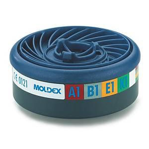 Filtre à gaz Moldex Easylock 9400 pour les séries 7000 et 9000, A1B1E1K1, les 10