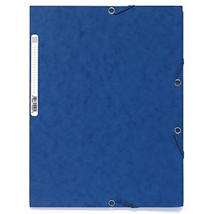 EXACOMPTA 3-FLAP FOLDER A4 BOARD BLUE