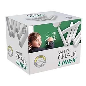 PK100 LINEX CHALK CRAYON ROUND WHITE