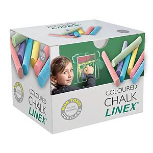 PK100 LINEX CHALK CRAYON ROUND ASS COLOR