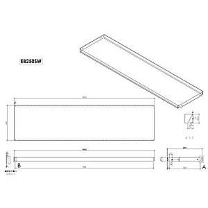 Econ Shelf 1000X250mm Cream Barnardos Pk2