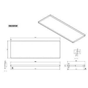 Econ Shelf 1000X350mm Cream Barnardos Pk2