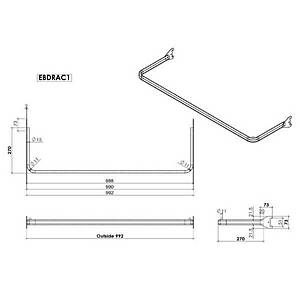 D-Rail Upright 1000mm Chrome Barnardos