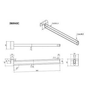 Straight Forward Arm 300mm Chrome Barnardos