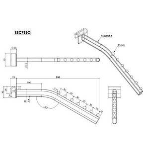 Crank 7Ball Arm Forward Slope Chrome Barnardos