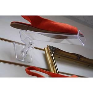 Swivel Shoe Shelf 230mm Clear Barnardos