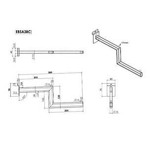 Slatwall Step Arm 380mm Chrome Barnardos