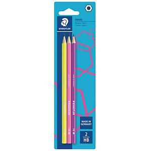 Staedtler Wopex lyijykynäsetti HB neon blisteri, 1 kpl=3 kynää