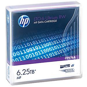 HP LTO-6 Ultrium (C7976A) data cartridge, 6.25TB