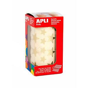 Apli stick figures star gold on roll - pack of 2360 figures