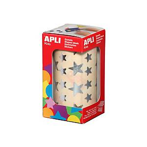 Apli stick figures star silver on roll - pack of 2360 figures
