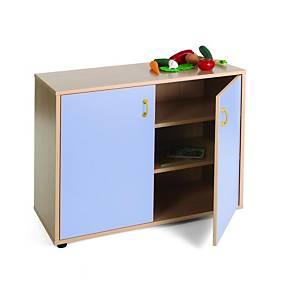 Mueble bajo armario 3 estantes MOBEDUC puertas azules