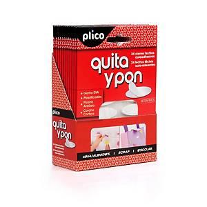 Pack de 24 Adhesivos quita y pon PLICO