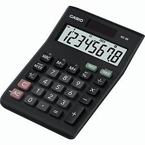 Tischrechner Casio MS-8B, 8stellig, Solar-/Batteriebetrieb, schwarz