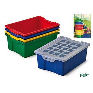 Caixa de armazenagem com tampa 14 litros em cores sortidas