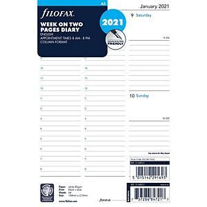 Filofax A5 Desk Organiser Refill Inserts 5 Language - Week To View